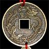 Китайская монета счастья для привлечения партнера - подвесная